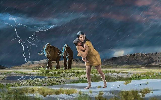 Najduže praistorijsko putovanje-fosilni tragovi stopala majke koja nosi dete
